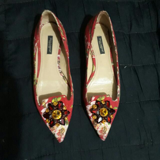 Original Dolce and Gabbana  D&G kitten heels
