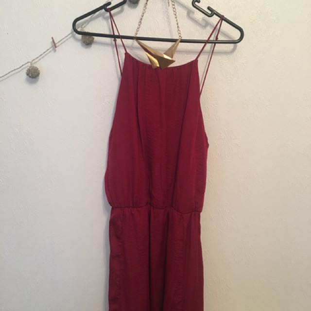 Pagani Maroon Evening Dress, Used Once