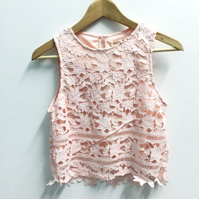 P&Co pink flower top