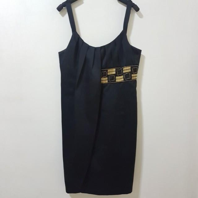 Pencil Cut Black Dress