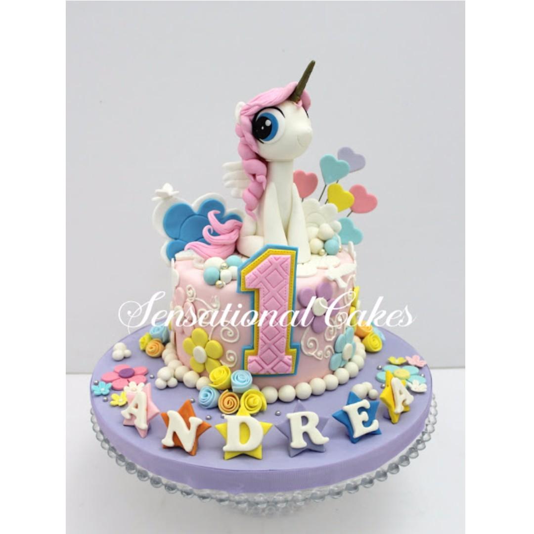 Pink Unicorn Cake Unicorn Cake Singapore Little Pony Cake