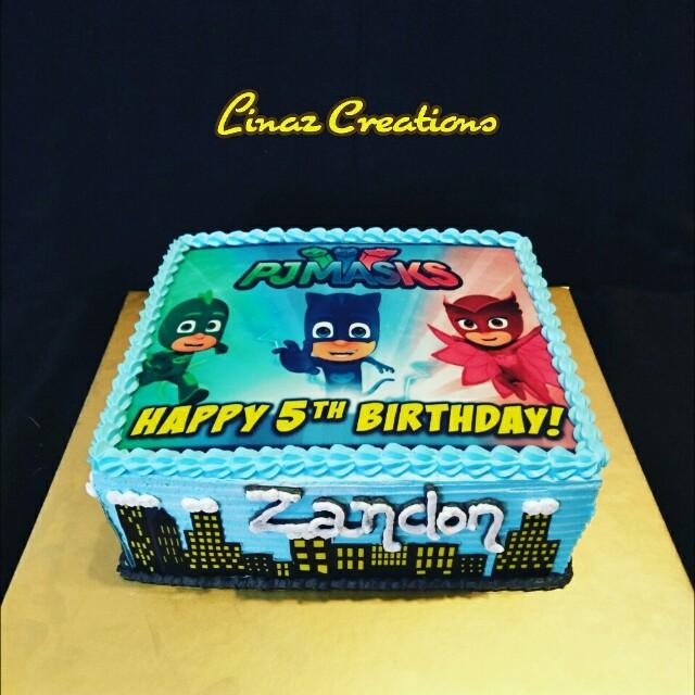 1kg Pj Mask Birthday Cake Need A Cake Contact Us At 86069748 Lina
