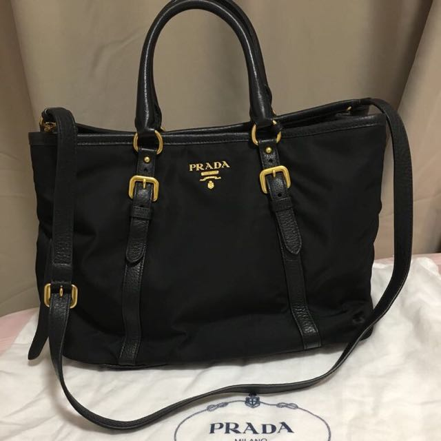 5cd9cdbf37ca ... canada coupon code for prada bn2527 tessuto nylon tote in black luxury  bags wallets on carousell