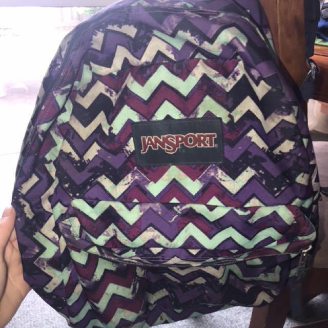 Purple JanSport bag