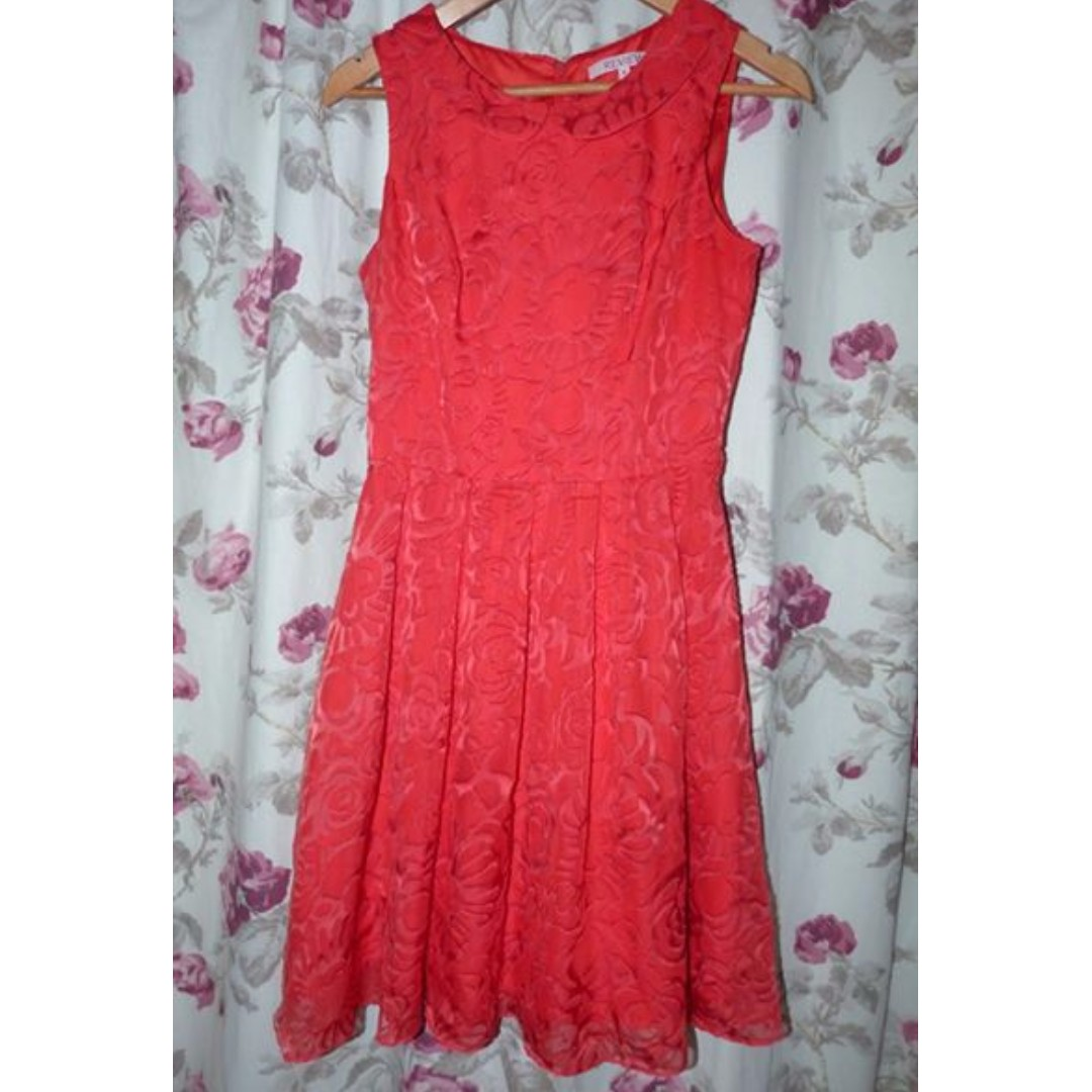 Review pretty floral burnout feel dress size 8 euc