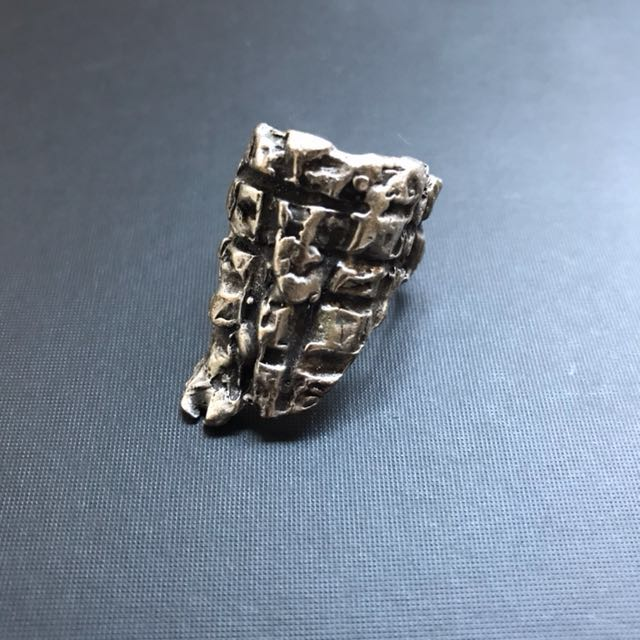 Silver Plated Textured Ring