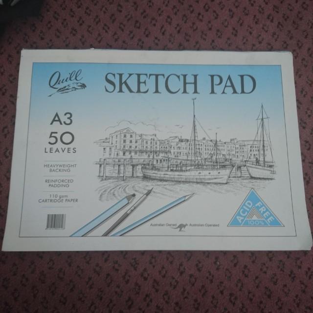 sketch pad, watercolour book, 10x12canvas, paper palette pad