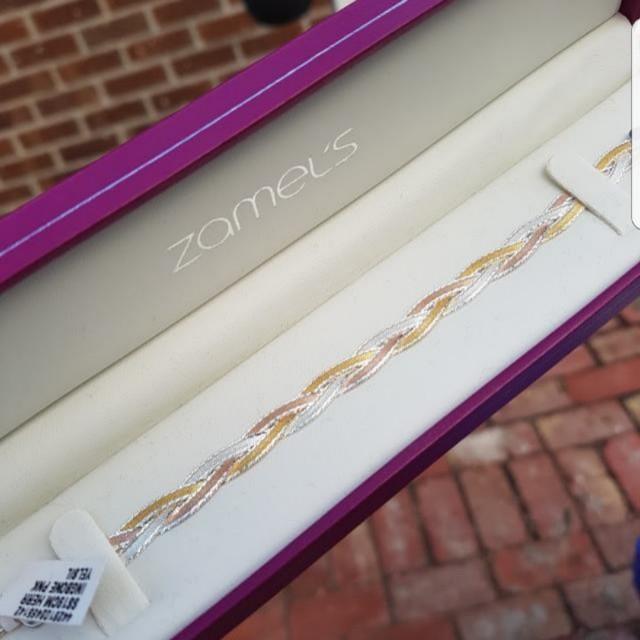 Sterling Silver Tri Colour Bracelet Brand New