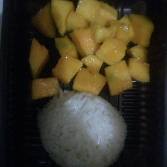 Sticky mango rice dan king mango