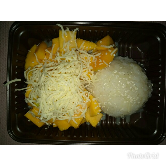 Sticky mango rice dan king mango