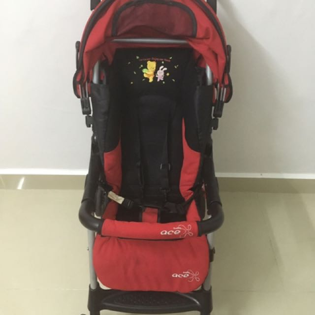 455ab775740 Taiwan Baby Ace Red Stroller