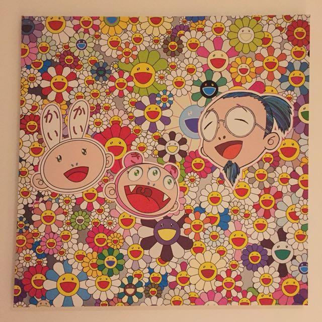 Takashi Murakami Stretched Canvas Print Art 80cmx80cm