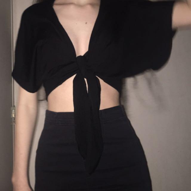 Tie front top