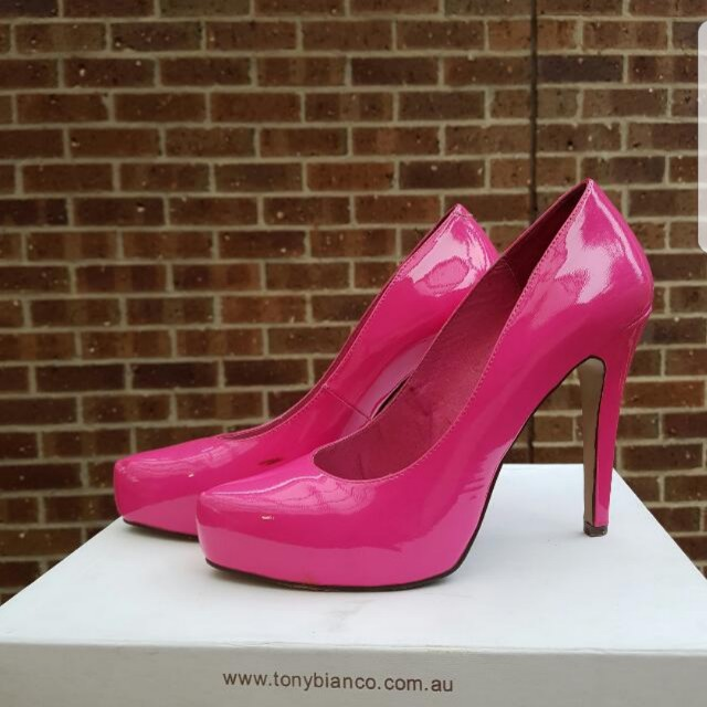 """Tony Bianco """"Barbie"""" hot pink pumps"""