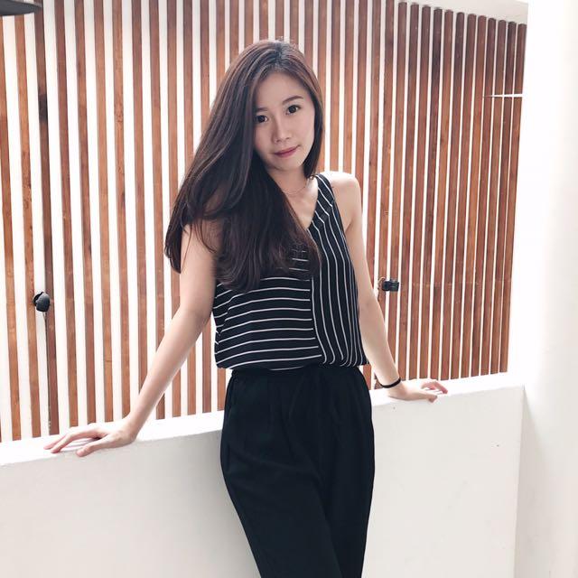 top stripe black