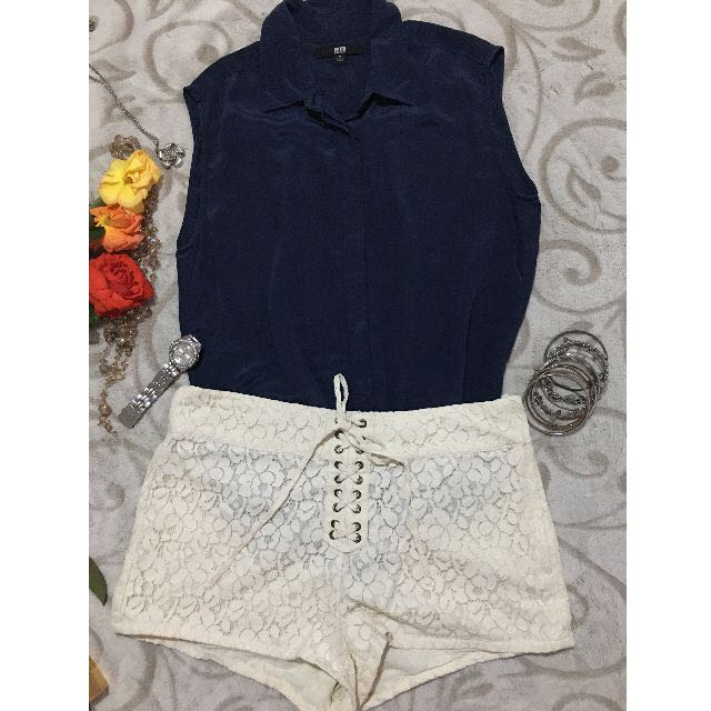 Uniqlo Top and H&M Off White Short