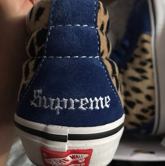 dd1c3f9aa6 Vans x Supreme Cheetah Velvet Sk8-Mid Pro Size  US 8