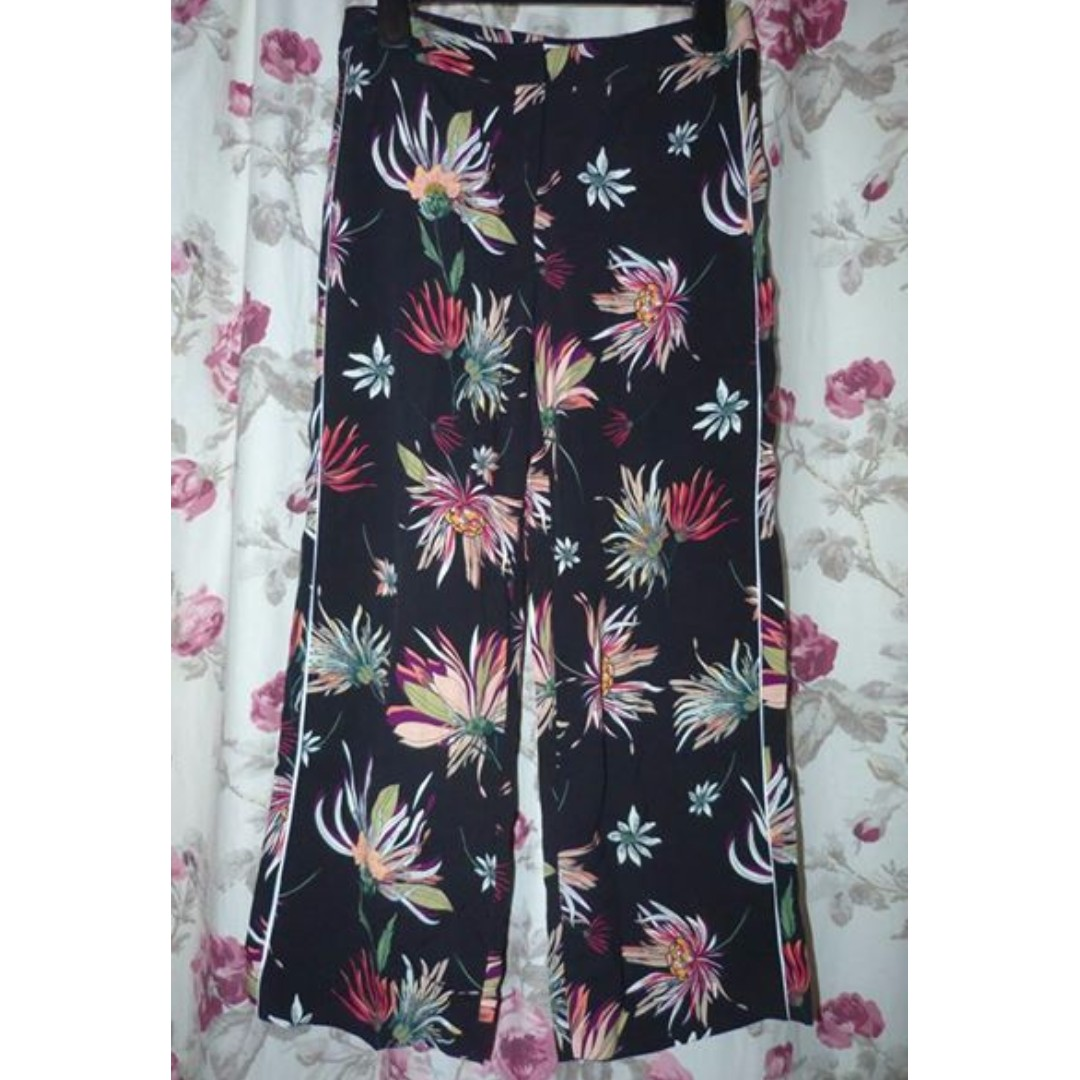 Veronika Maine recent season size 8 floral botanical print pants size 8