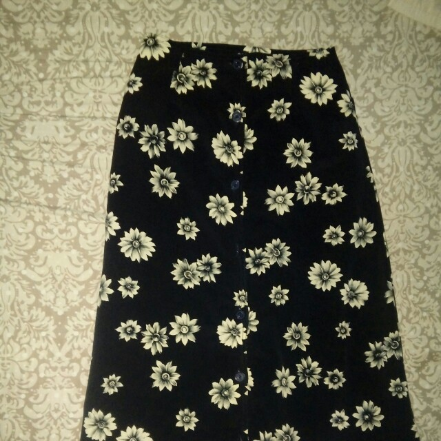 Reprice Vintage Long Button Up Skirt