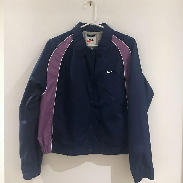 Vintage Nike Bomber-Style Rain Jacket