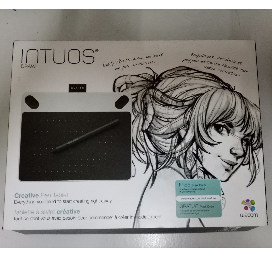 Wacom Intuos Draw Creative Pen Tablet Small - White