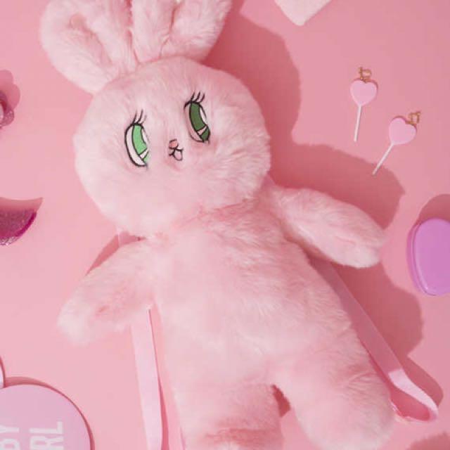 Wengo 兔兔粉紅後背包