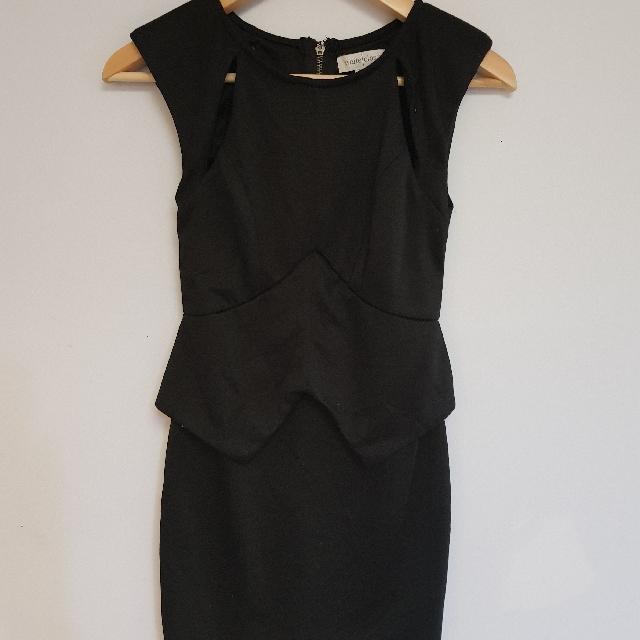 WHITE CLOSET black dress size 8