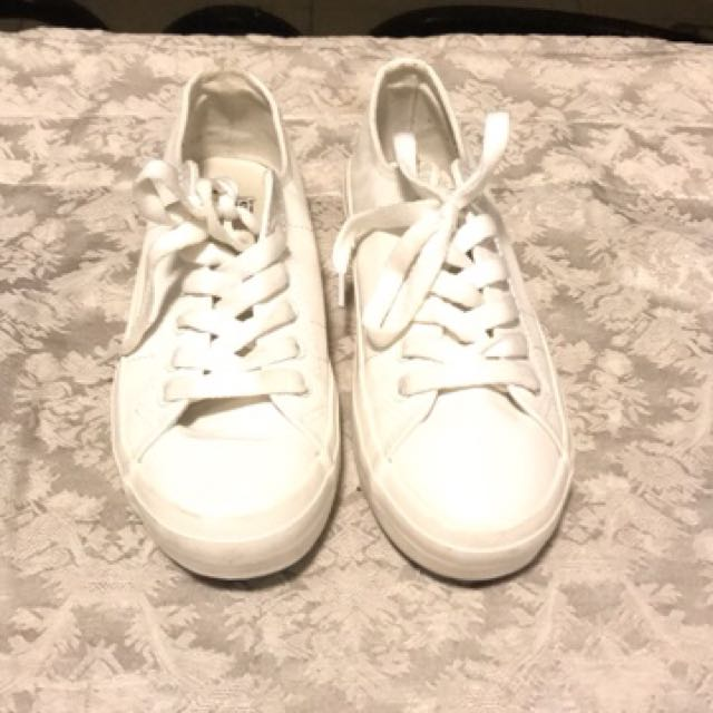 White spad sneakers