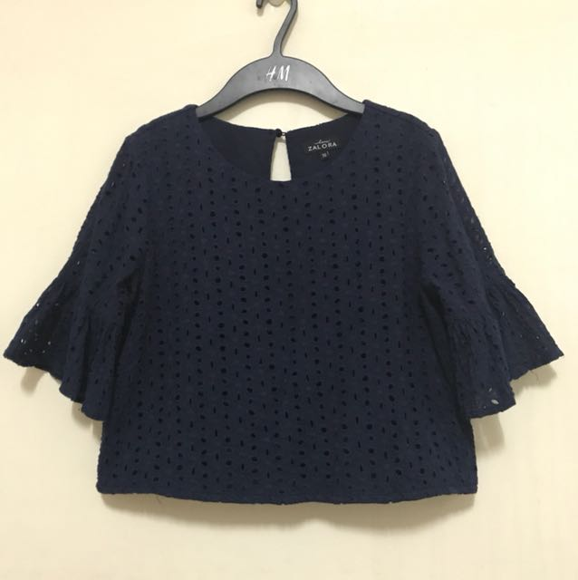 Zalora eyelet top