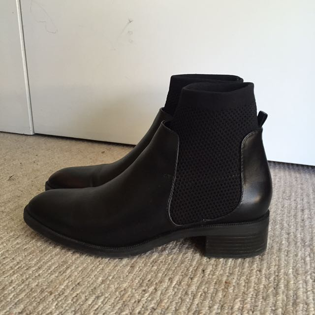 ZARA Sock Heeled Boot