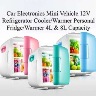 Mini Vehicle 12V Refrigerator Cooler/Warmer Personal Fridge/Warmer 4L / 8L Capacity