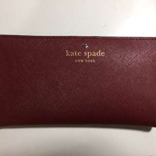 Kate Spade Stacy Wallet Maroon