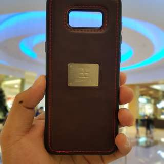 Samsung Galaxy S8 Plus Case Balleen.E Luxury Retro Leather Wine Red