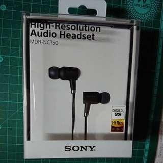 SONY Hi-Res MDR-NC750 耳機 Audio Headset (Black)
