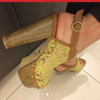 蕾絲露趾高跟鞋(任選2雙再9.5折)