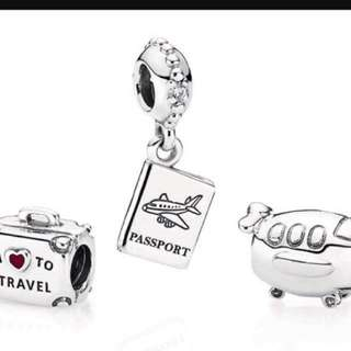 Pandora I love to travel Charm sets