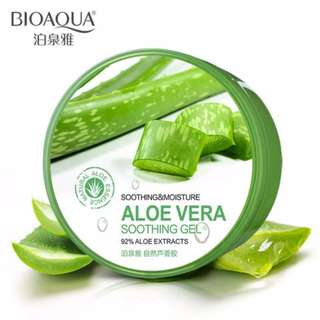 NATURAL ALOE VERA SMOOTH ACNE TREATMENT FACE GEL CREAM