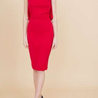 Alexander McQueen Red knit dress