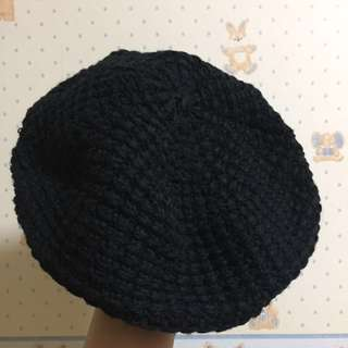 Black Beret Hat Bought from Japan Made in Korea