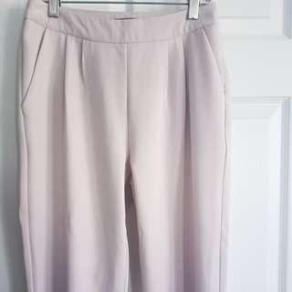 Blush Pants with Gold Zippers