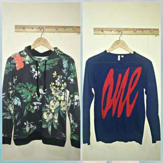 2 Items For 1 Price Oxygen hoodie (S)  And Penshoppe sweatshirt (XS but also Fit in Small)