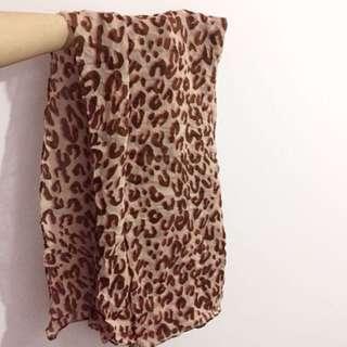 Pink Leopard scarf 粉紅豹紋頸巾