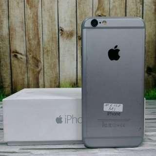 iPhone 6 128GB Gray Super Mulus fullset original ex internasional USA LL ( ITC Cempaka Mas )