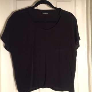Club Monaco black silk t-shirt