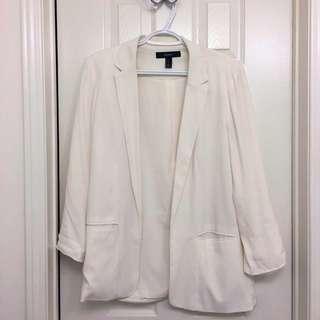 White Forever 21 blazer