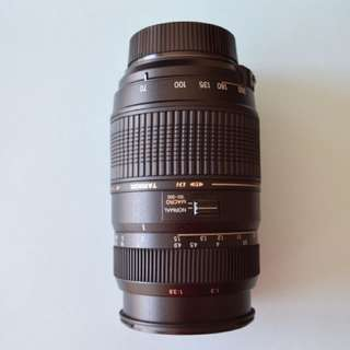 TAMRON 70-300MM NIKON LENS w/ UV filter and lens hood, excellent condition