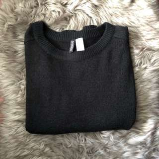 H&M Black Sweater with Slits