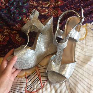 Glitter ALDO Wedges Size 38