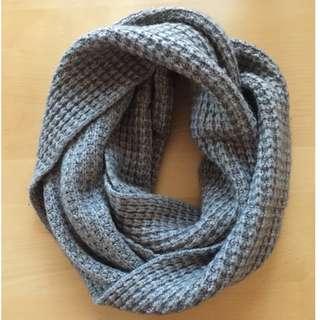 J.Crew Grey cashmere wool infinity scarf