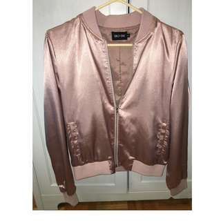 M Boutique Metallic Pink Bomber